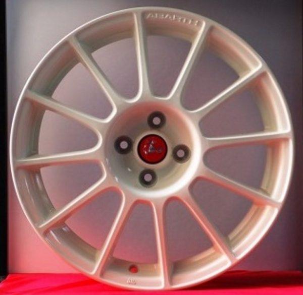 CERCHI IN LEGA BREMBO FIAT 500 ABARTH 17 ORIGINALI BIANCO