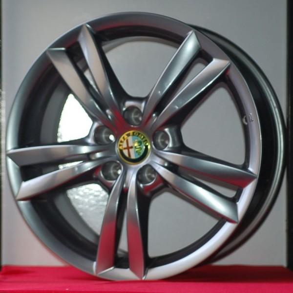 Cerchi Giulietta 17 Originali Alfa Romeo a Doppie Razze Brunito (Singolo)