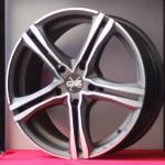 Cerchi in lega BMW serie 1 da 17 pollici OZ Matt Graphite Diamond Cut X5B