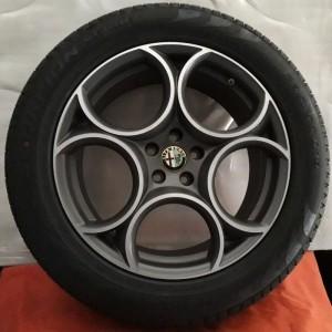 Cerchi Stelvio 19 Originali Alfa Romeo Classico Bruniti e Pneumatici Michelin CrossClimate 235 55