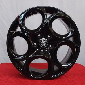 Cerchi Giulietta 17 Originali Alfa Romeo a 5 Fori Nero Lucido