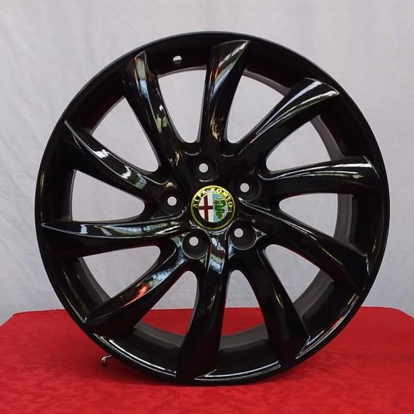 Cerchi Giulietta 17 Originali Alfa Romeo a Turbina Nero Lucido