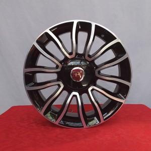 Cerchi 500 16 Originali Fiat Nero Lucido Diamantato