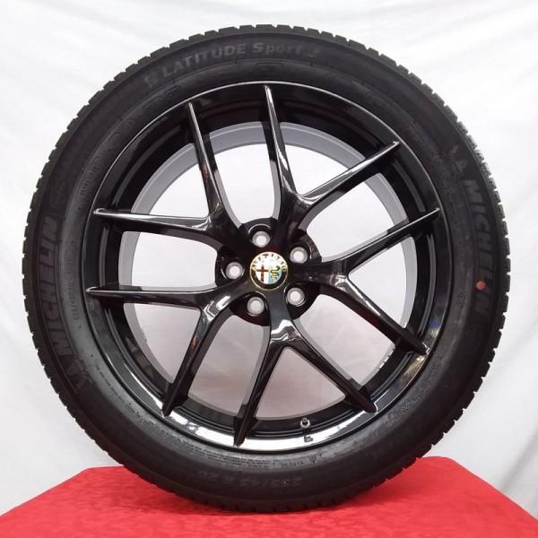 Cerchi Stelvio 20 Originali Alfa Romeo Trofeo Antracite Scuro e Pneumatici Michelin Latitude Sport 3 255 45