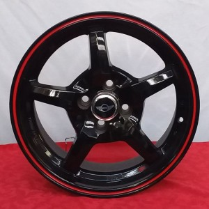 Cerchi Oz 16 MSW Motorsport Mini Nero Lucido Rosso