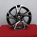 Cerchi Polo 16 PSW Torino Volkswagen Nero Lucido Diamantato