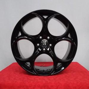 Cerchi Stelvio Performance 8,5X19 Originali Alfa Romeo Nero Lucido