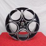 Cerchi Alfa Romeo Giulia 18 Esseruote Scuderia Nero Diamantato