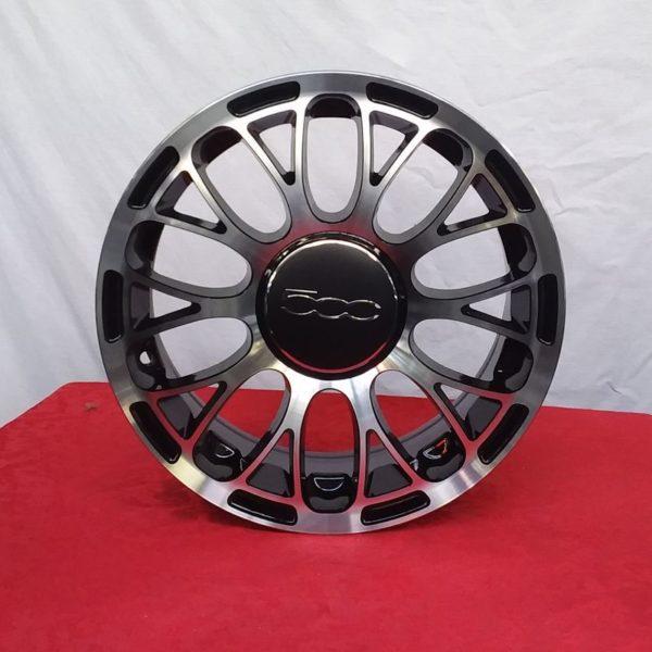 Cerchi in lega Fiat 500 15 Nero Lucido Diamantato