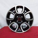 Cerchi Fiat Panda 15 Originali Nero Lucido Diamantato