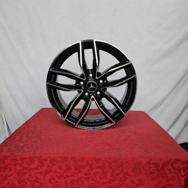 Cerchi Mercedes Classe A 17 Mak Sarthe Nero Diamantato