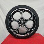 Cerchi Giulia Doppia Misura 19 Originali Alfa Romeo Performance Nero Diamantato e Pneumatici Pirelli Pzero Rft 225 40 255 35